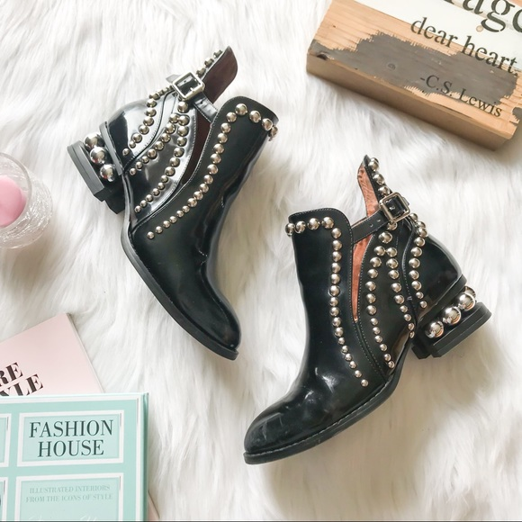 Jeffrey Campbell Shoes - JEFFREY CAMPBELL Rylance Studded Moto Booties Boot 8d69c6a1b